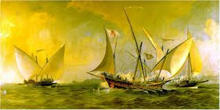 Xebec painting - Antonio Barcelo 1738